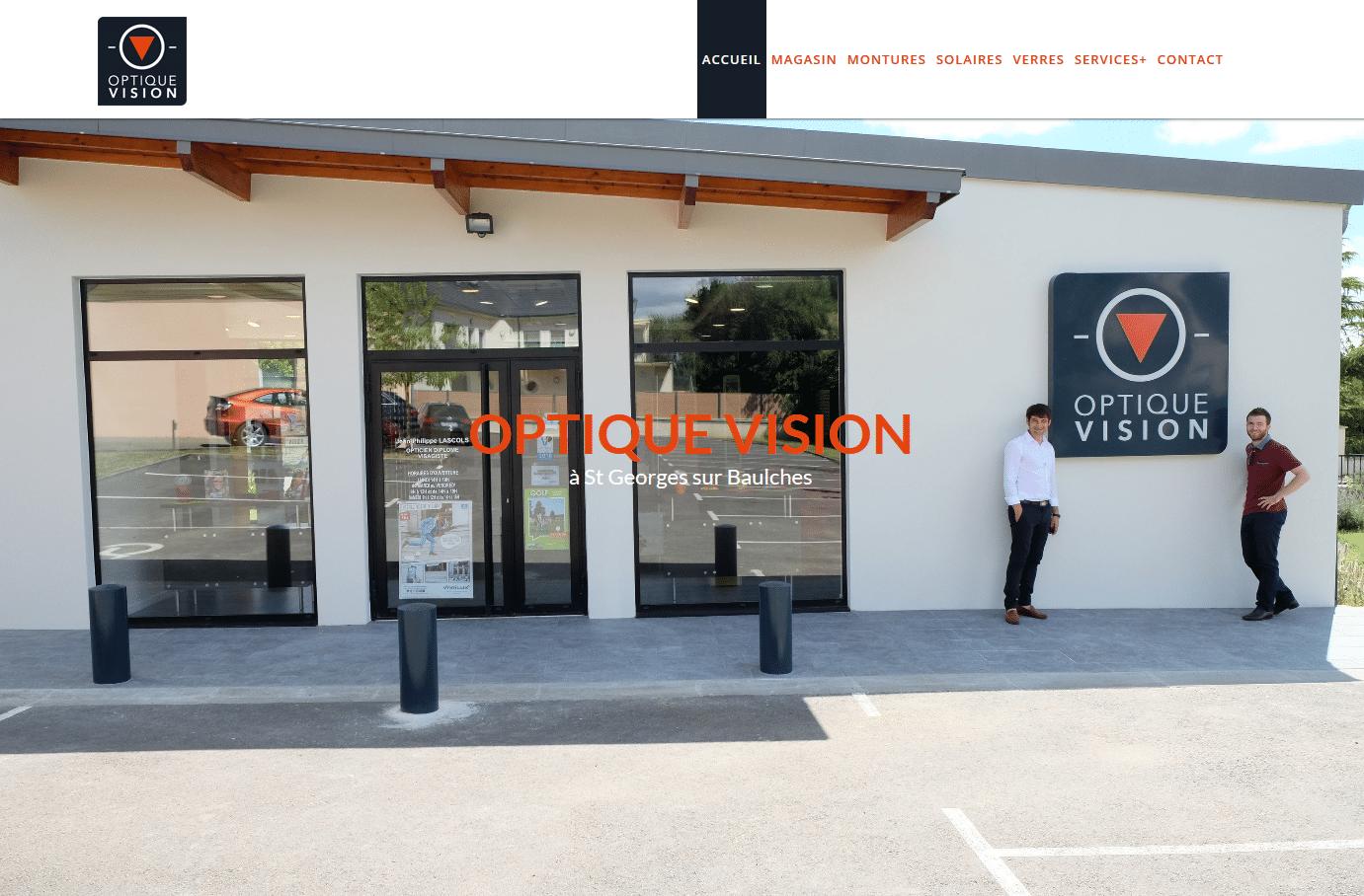 Création du site web Optique Vision